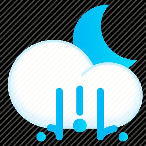 hail, lighthail, night, weather icon