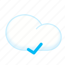 check, cloud, complete, finish icon
