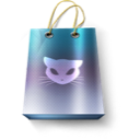 artdesigner, bag, cat, promo icon