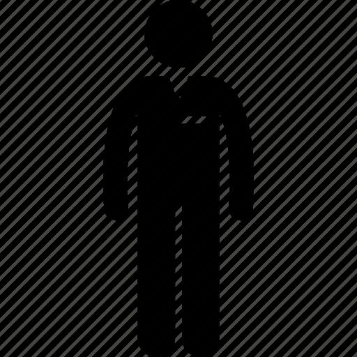 Male, worker, uniform, employee, staff, man icon