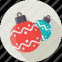 balls, christmas, decoration, tree toys, xmas icon