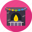 christmas, comfort, cosiness, fire, fireplace, warm, xmas icon