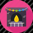 christmas, comfort, cosiness, fire, fireplace, warm, xmas icon