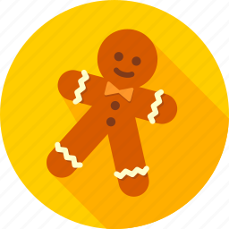 celebration, confectionery, cookie, ginger, gingerbread, sweets, xmas icon