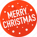 celebration, christmas, holiday, merry christmas, snow, sticker icon