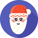 christmas, claus, face, holiday, santa, santa claus, xmas icon