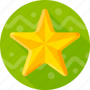 celebration, decoration, gold, happy star, star icon
