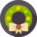 bow-knot, christmas, decor door, fir, wreath, xmas icon