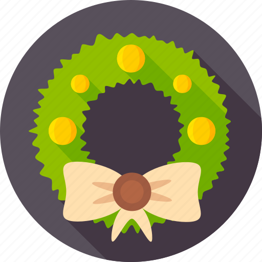 bow-knot, christmas, decor door, decoration, fir, wreath, xmas icon