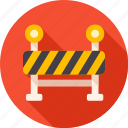 barrier, construction, safe, safety, sign, under construction, warning icon