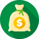 bag, bank, capital, dollars, investment, money, saving icon