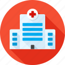 building, clinic, health, healthcare, hospital, medicine, therapy icon