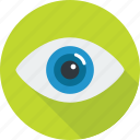 eye, eyeball, glass, search, see, view, watch icon