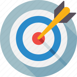 ambition, archery, aspiration, darts, segment, strategy icon