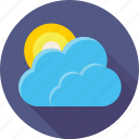 meteo, weather, sun, clouds, day, cloudy, sky icon