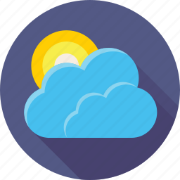 clouds, cloudy, day, meteo, sky, sun, weather icon