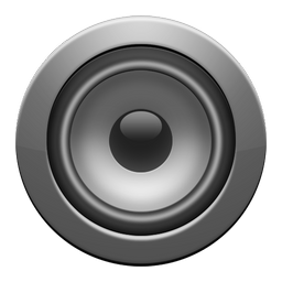 enceinte, gray icon