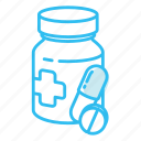bottle, medicine, pills icon
