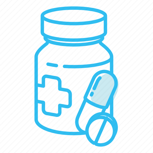 bottle, medicine, pills icon