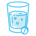 drink, glass, pills icon