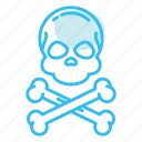 dead, death, skeleton, skull icon