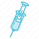 injection, medical, medicine, syringe, vaccine icon