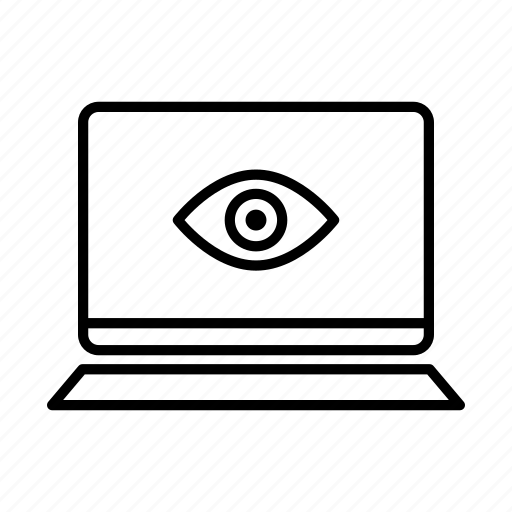 device, eye, laptop, macbook, mobile, screen, view icon