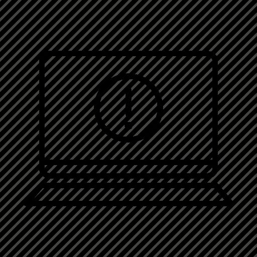 alert, device, laptop, macbook, mobile, screen, warning icon