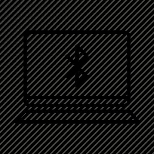 bluetooth, device, laptop, macbook, mobile, screen, wireless icon