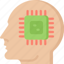 artificial intelligence, computer, computer thoughts, machine learning, ml, thoughts icon