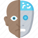 android, artificial intelligence, machine learning, ml, robot icon