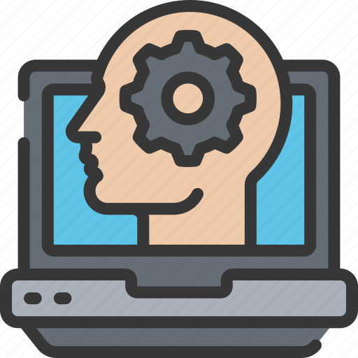 artificial intelligence, cog, computer, machine learning, ml, process, thought icon