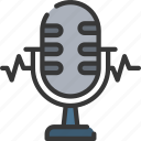 artificial intelligence, machine learning, microphone, ml, recognition, voice icon