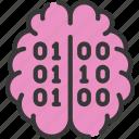 artificial intelligence, brains, data, machine learning, ml, smart icon