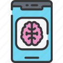 app, artificial intelligence, machine learning, ml, mobile icon