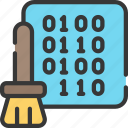 artificial intelligence, binary, cleaning, data, machine learning, ml icon