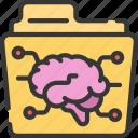 artificial intelligence, foldering, folders, machine learning, ml, smart icon