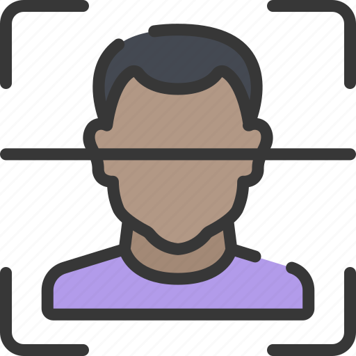 artificial intelligence, facial, machine learning, ml, person, recognition icon