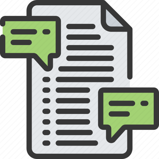 artificial intelligence, comments, document, documentations, machine learning, ml icon