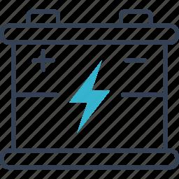 accumulator, auto, energy, service icon