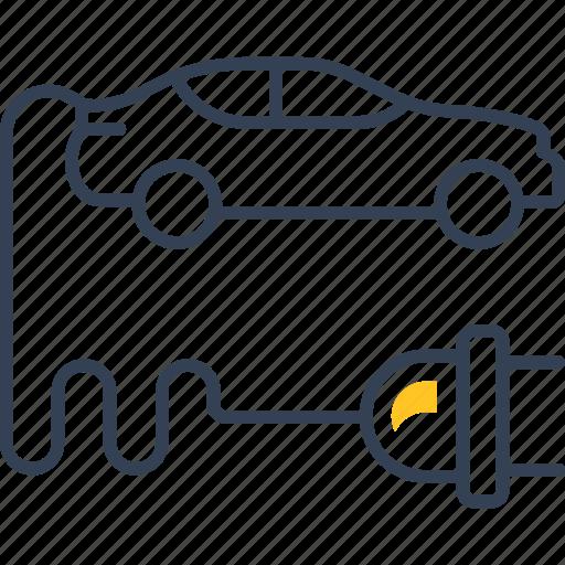 auto, car, eco, service, socket icon
