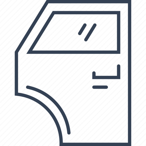 auto, car, door, service icon