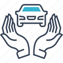 auto, car, hands, service icon