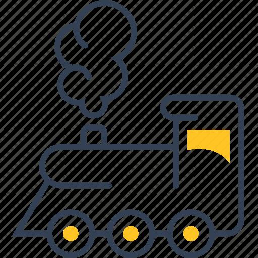 auto, locomotive, service, train icon