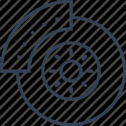 auto, service, wheel, wing icon