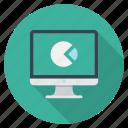 analytics, chart, device, imac, report, statistics icon