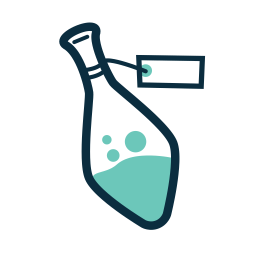bottle, magic, potion, spell icon