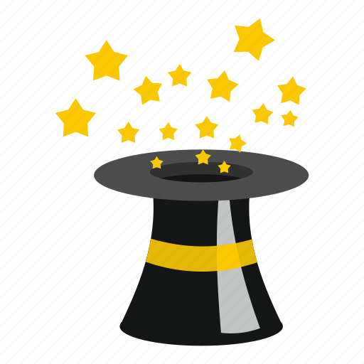 cap, cylinder, hat, illusion, magician, show, wizard icon