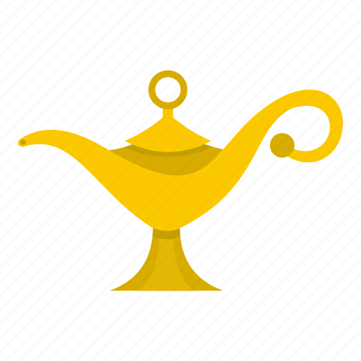 antique, east, genie, lamp, magic, old, traditional icon