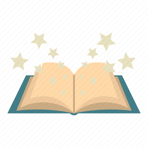book, fantasy, magic, mystery, old, spell, star icon